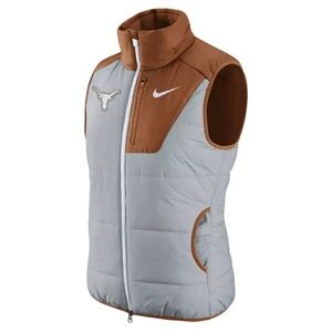 Texas Longhorns Nike College Womens  puffer vest